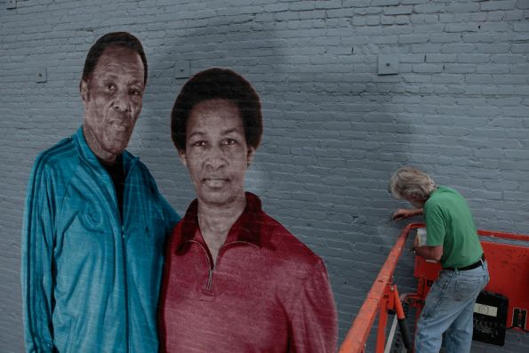 Mural Of Rafer Johnson And Loretta   Los Angeles